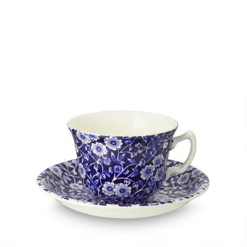 Teetasse & Untertasse - Burleigh Blue Calico