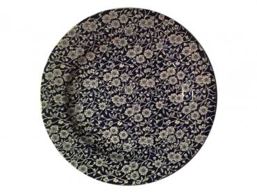Speiseteller, Burleigh Blue Calico : alte Produktionswelle