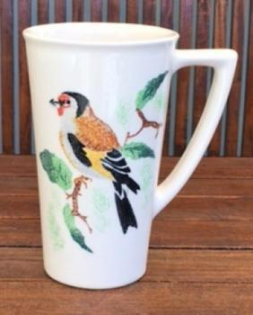 Aston Pottery Vogelbecher, Distelfink